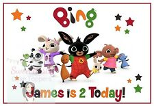 BING CBEEBIES CAKE TOPPER PERSONALISED EDIBLE PRINTED ICING A4 9.5 X 6.5 INCHES