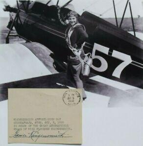 Florence Klingensmith Female Aviation Pioneer Killed Crash 1933 Autograph 'Rare'