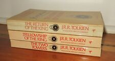 Lord of the Rings 3 vol set second Revised Edition 1986 indexed appendices maps