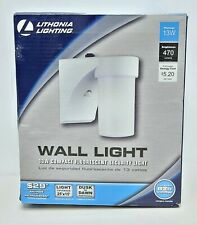 Lithonia Lighting Outdoor Cylinder Security Wall Light with Dusk to Dawn Sensor