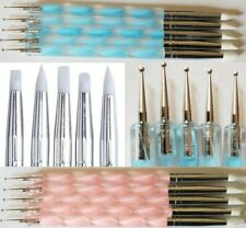 5Pcs 2 Way Nail Art Silicone Tip Pen Brushes Dotting Tools Marbleizing Painting