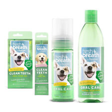TropiClean Fresh Breath Dog & Puppy Dental Oral Care - Gel Foam Water Additive