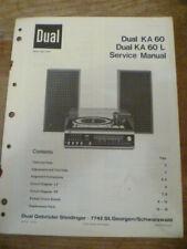 DUAL   KA 60  /  KA 60L Hi-Fi System  Service Manual