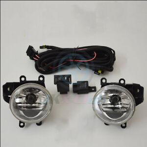 Clear Fog Lamp Driving Light w/ Harness Switch Kit For Suzuki SWIFT 2005-2007