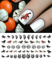 Kentucky Derby Racehorse Nail Art Waterslide Decals  Set #2 - Salon Quality!