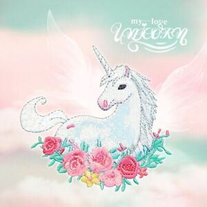 Unicorn Animal Embroidery Cloth Stickers Clothes Decoration Bag DIY