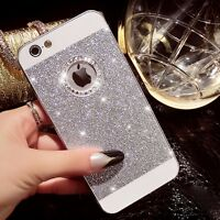 Shining Luxury Bling Glitter Crystal Hard Back Phone Case Cover For iPhone Apple