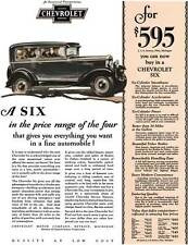 Chevrolet 1929 - Chevrolet Ad - A Six in the price range of the four that gives