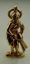 "VINTAGE 9 ct GOLD HALLMARKED ZODIAC  "" AQUARIUS ""   CHARM"