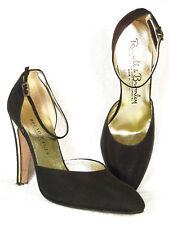 NIB! BRUNO MAGLI MANCINI Black Crepe Heels w/Gold 39 9B