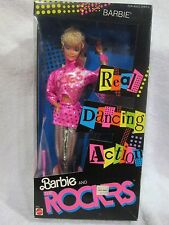 NRFB Mattel 1986 ~ Barbie and the Rockers Barbie Doll #3055 ~Real Dancing Action