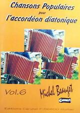Accordéon diatonique Tablatures Chansons populaires v.6 - Recueil neuf avec CD