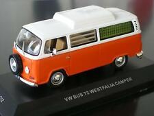 + VOLKSWAGEN VW T2 a Bus Camper Westfalia Hochdach orange-weiss  IXO 1:43
