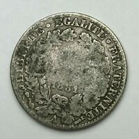 Dated : 1881 - Silver Coin - France - 50 Centimes - 50 Cent Coin