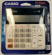Casio Mh-10 10-Digit Desktop Calculator Tax & Cost/Sell/Margin Nip