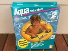 AQUA Inflatable Triple Chamber Swim Ring Tube Water Float Kids Swimming Pool Fun