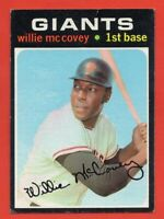 1971 Topps #50 Willie McCovey VG-VGEX+ CREASE San Francisco Giants FREE SHIPPING