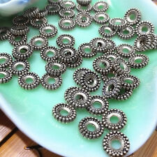 Bulk 100pcs New Tibet Silver Beads Loose Spacer Craft Jewelry Finding Charms 8mm