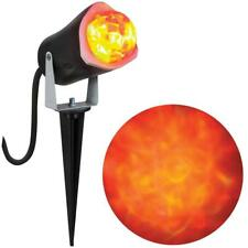 ORANGE FIRE ICE ANIMATED LED LIGHT SHOW PROJECTOR Outdoor Yard Decor HAUNTED