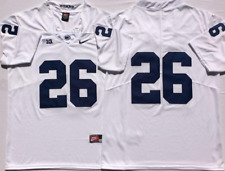 NEW Men's Penn State Nittany Lions White #26 BARKLEY Football Custom Jersey