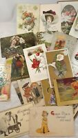 Lot 21 Vintage Postcards Pre-1930's Easter  - Birthday -  Thanksgiving -  Comic