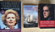 British Biographies Lot Of 3 Thatcher Charles II Randolph Churchill