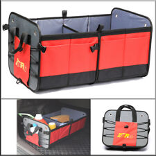 Red TDPRO Folding Car Boot Trunk Rear Cargo Organizer Storage Bag Van Holder