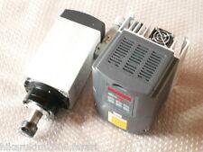 AIR-COOLED 4KW 98*88*320MM 220V CNC SPINDLE MOTOR+MATCHING INVERTER VFD ROUTER