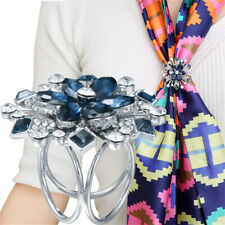 Korean Thrae Ring Scarf Buckle Clip Brooch Pin Ring Jewelry Gift High Quality UK