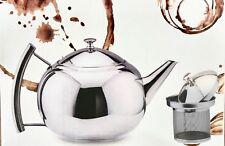Stainless Steel Teapot Infuser Tea Pot Strainer Infuser Filter Coffee Pot Deluxe