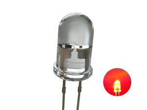 Flickering Leds 0 3/16in Red Clear Flickering with Control 20 Piece S625