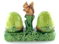 Vintage Japanese Export Giftware Acorn Forest Woodland Salt Pepper Cruet L438