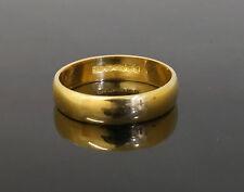 Vintage 22ct Rose Gold Plain D Shaped Wedding Band (Size F 1/2) 5mm Width