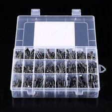 500pcs 24 Values 0.1~1000uF Aluminum Electrolytic Capacitor Assorted Kit 10V~50V
