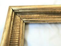ANTIQUE FITS 10 X 12 GOLD GILT PICTURE FRAME STENCIL WOOD FINE ART COUNTRY GESSO