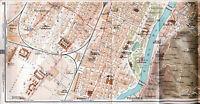 Torino Sud 1916 picc. cartina città orig Crocetta San Salvario Rubatto Pilonetto