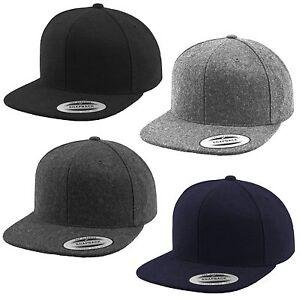FLEXFIT ® MELTON WOOL SNAPBACK CAP Cappy Yupoong Kappe Hat Wolle Basecap Mütze