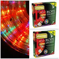 5m 10m Christmas Rope Lights Multi Colour 7 Light Variations Outdoor Indoor Plug