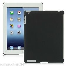 Custodia Nera per iPad 3 Protezione Retro in plastica Anti Graffio Back Cover