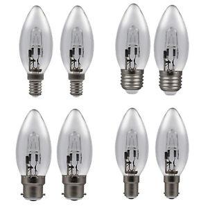 x2 Eveready ECO Halogen Energy Saving Candle Bulbs 20w 33w 48w - E14/B22/E27/B15
