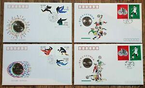 CHINA - Auswahl Numisbriefe - Asian Games / Frauen Fußball siehe Bilder