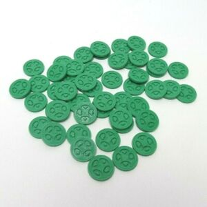 Sequence Game Replacement Parts - Complete Set 50 Green Chips