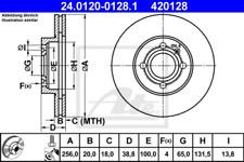 2x Bremsscheibe für Bremsanlage Vorderachse ATE 24.0120-0128.1