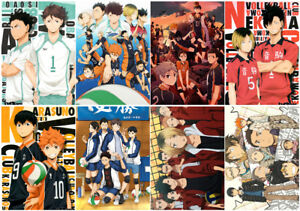 Haikyuu Polypropylene A3 8 pieces Posters wall poster PPP003