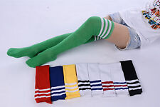 Warm Thigh High Stripe Over Knee Socks