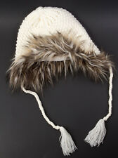 Gap Knit Faux Fur Trapper Hat with ear flaps for Women Size S/M NEW