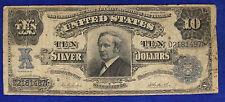 Stati Uniti USA Large Size Currency 10 Dollars 1908 Silver Certificate #B1343