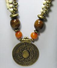 NEW Necklace from Tibetian Artisans @ Tucson Gem Show Medallian Pendant-Mandala