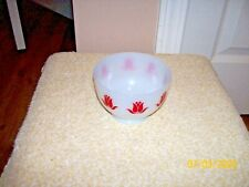 VINTAGE FIRE KING RED TULIP COTTAGE CHEESE BOWL
