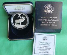 2003 National Wildlife Refuge System Centennial Medal Elk 90% Silver Proof